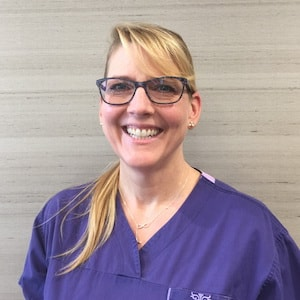 Our SF Perio & Implants team member, Natalie, who is a dental hygienist in our office
